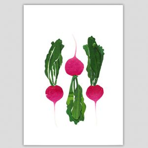 Jain Bain Beetroot Postcard
