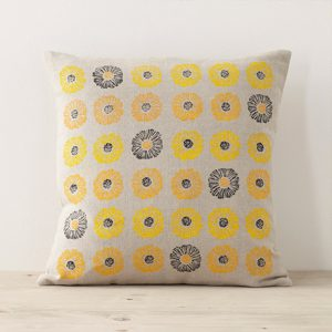 Joy Joliffe Daisies Cushion